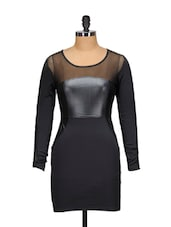 Sheer Black Party Dress - Ruby