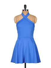 Cobalt Blue Halter Neck Dress - Ruby