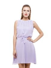 Lavender Flirty Georgette Dress - Being Fab