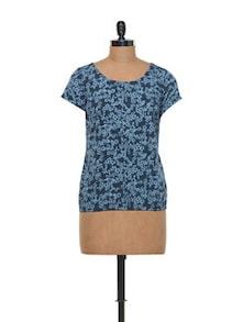 Floral Printed Polyester Top - Meira