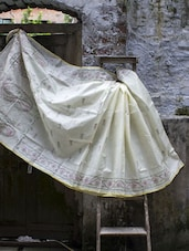 Tangail Saree With Kantha Stitch - Cotton Koleksi