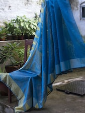 Blue Resham Saree - Cotton Koleksi