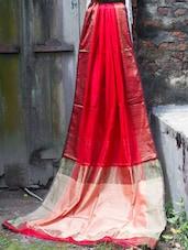 Red Resham Silk Saree - Cotton Koleksi