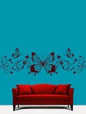 Butterflies N Swirls Wall Art ( Brown ) - DeStudio