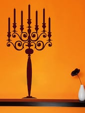 Candle Stand Wall Deca Wall Art ( Brown ) - DeStudio