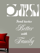 Food With Family Wall Art ( White ) - DeStudio