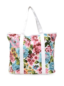 Multicoloured Floral Tote Bag - Art Forte