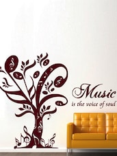 Music Is The Voice Of Soul Wall Art ( Brown ) - DeStudio