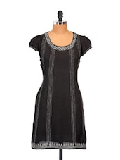 Black Chanderi Kurti - Go Lucknow