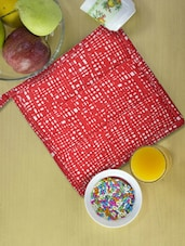 Red And White Printed Kitchen Pot Holder - Ambbi Collections