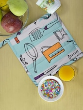 Blue And White Kitchen Applianaces Print Kitchen Pot Holder - Ambbi Collections