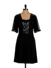 Black Dress With Sequin Embellishment - Eavan