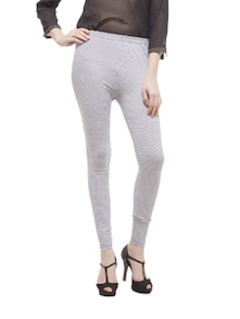White And Black Check Leggings - Being Fab