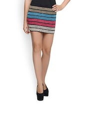 Candy Striped Knit Skirt Cum Top. - N-Gal
