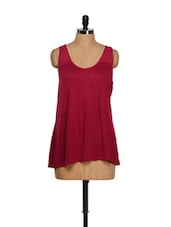 Maroon Flared Tank Top - CHERYMOYA