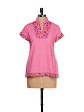 Pink Floral Short-Sleeved Top - Lalana