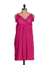 Strappy Pink Polka-Dotted Dress - Lalana