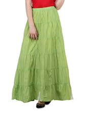 Light Green Long  Skirt - Lalana
