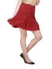 Maroon Short Skirt - Lalana