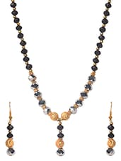 Black & Gold Necklace Set - Savi