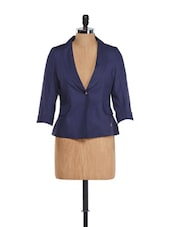 Navy Blue Cotton Jacket - Yell