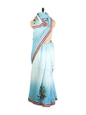 Sky Blue Georgette Saree - ZAHARA