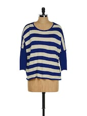Striped Blue And Beige Top - RADICAL