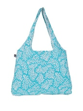 Blue And White Printed Tote Bag - Be... For Bag