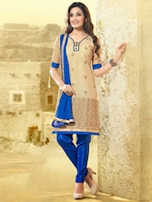 Brown Thread Work Suit - Riti Riwaz