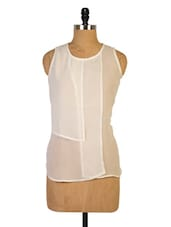 Solid White Sleeveless Top - Miss Chase
