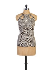 Animal Print Sleeveless Top - Miss Chase