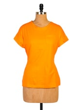Bright Orange Casual T-shirt - Miss Chase