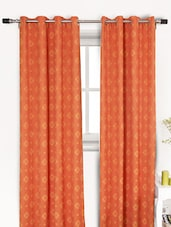 Motif Print Door Curtains (Set Of 2) - HOUSE THIS