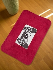 Set Of 3 Red Bath Rugs - HOUSE THIS