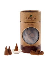 Pack Of Geranium Rose Incense Cones With A Ceramic Holder - Fragrance World India