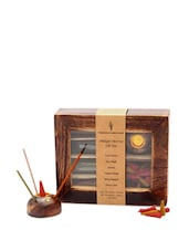 Antique Incense Sticks Wooden Gift Box - Fragrance World India