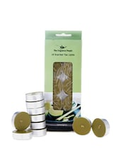 Set Of 10 Lemon Grass Scented Tea Lights - Fragrance World India
