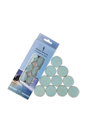 Set Of 10 Ocean Mist Scented Tea Lights - Fragrance World India