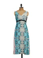 Abstract Print Long Dress - Shakumbhari