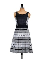 Black & White Printed Dress - Shakumbhari