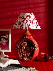 Couple Love Terracotta Table Lamp Shade- Red - Bdesi