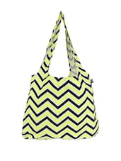 Yellow And Black Chevron Tote Bag - Be... For Bag