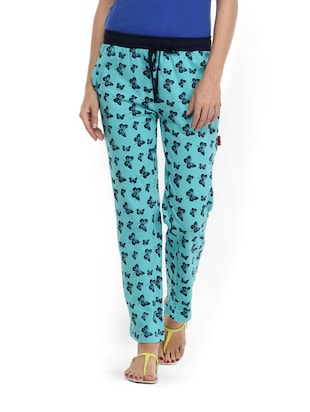 Blue cotton pyjama with butterfly prints
