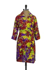 Bright Cotton Floral Print Kurta - Purab Paschim