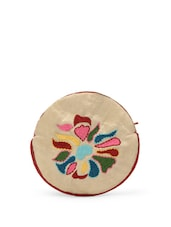 Embroidered Round Coin Pouch - Blissdrizzle