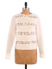 Cream Lace Top - Aaliya Woman