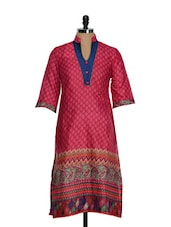 Indian Print Ethnic Cotton Kurti - Tissu