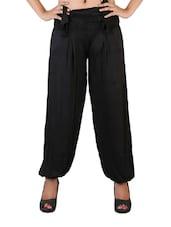 Black Smock Waist Loose Pants - Vivomo
