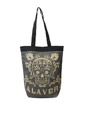 Grey Calavera Print Tote Bag - The House Of Tara