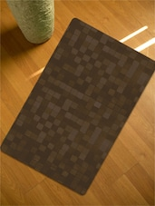 Brown Block Design Table Mat- Set Of 6 - Freelance
